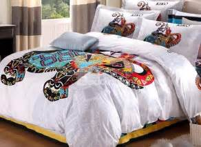exotic girl and elephant print 4 piece duvet cover sets