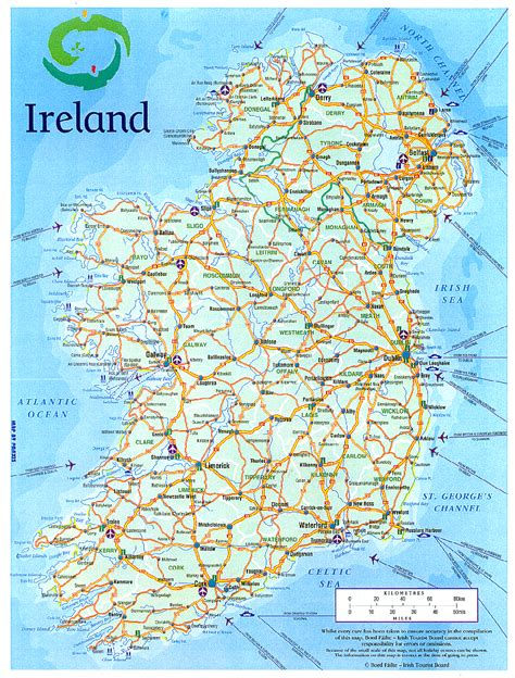 printable road maps ireland geography