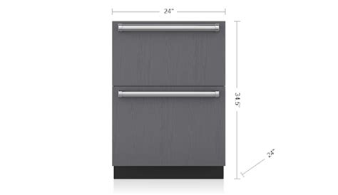 sub zero freezer drawers with ice maker 24 quot freezer drawers with ice maker panel ready id 24fi