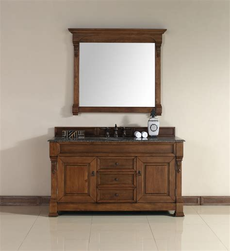 60 inch vanity top single sink 60 inch single sink bathroom vanity in country oak