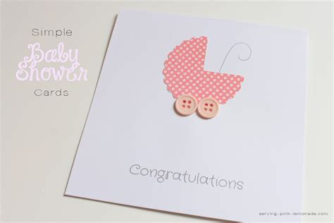 Make A Baby Shower Card by Serving Pink Lemonade Simple Baby Shower Cards