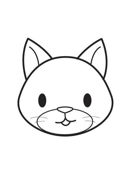 coloring page cat head img