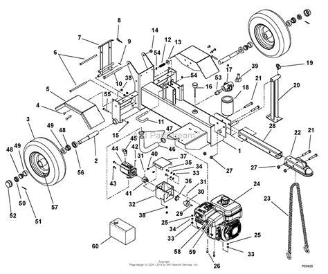 how to use a ton diagram ariens 917001 000101 000999 log splitter 27 ton