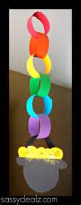 rainbow chain craft for st s day crafty morning