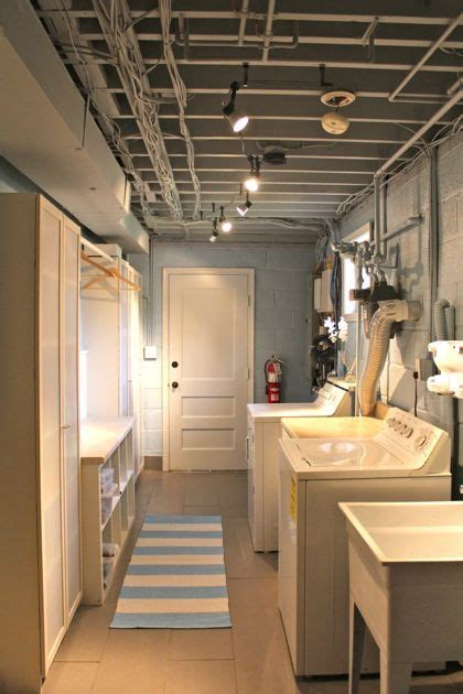 Unfinished Basement Laundry Room Ideas by Best 25 Unfinished Laundry Room Ideas On