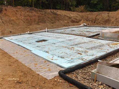 insulation basement slab for stehr house in highland