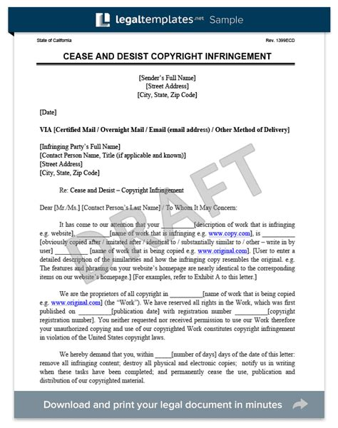 cease and desist letter australia template cease and desist letter c d create a cease desist