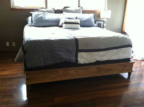 Diy King Platform Bed White King Size Platform Bed Diy Projects