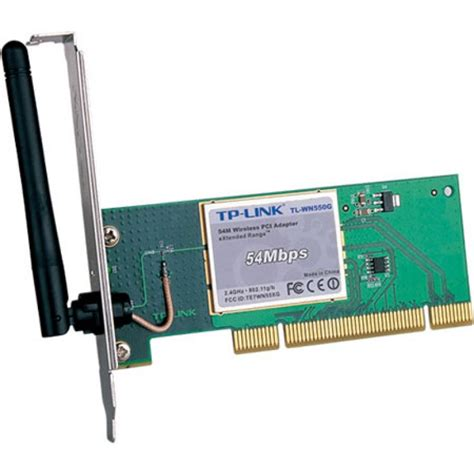 Tp Link 54mbps Wireless Pci Adapter Tl Wn350gd 54mbps pci wireless adapter tp link tl wn550g 54m wireless pci adapter with extended rangetm
