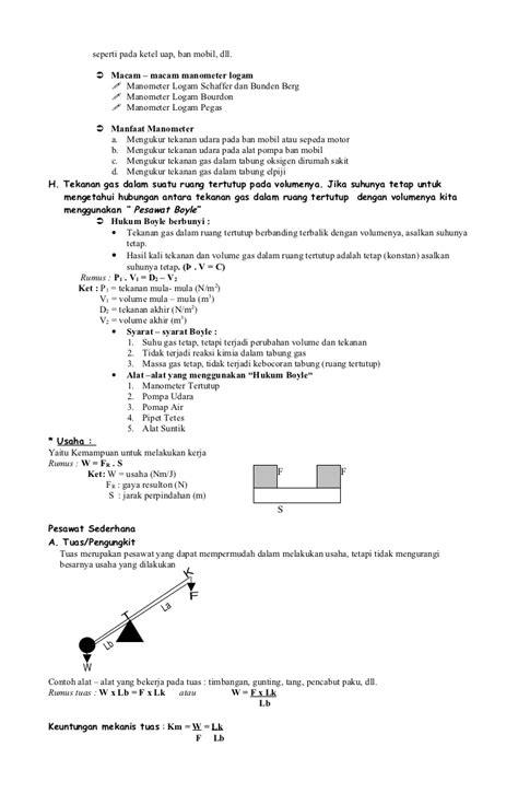 Rumus Tokcer Fisika Smp U220 rumus fisika kelas 8