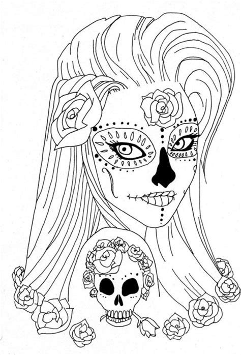 sugar skull coloring sugar skull coloring pages coloring pages for adults