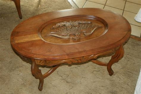 walnut eagle carved coffee table ct7 and 50 similar items