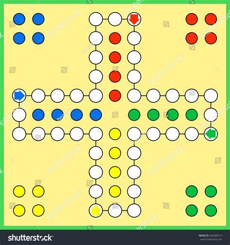 Plan Toys Ludo Pt4622 ludo board stock vector 342589712