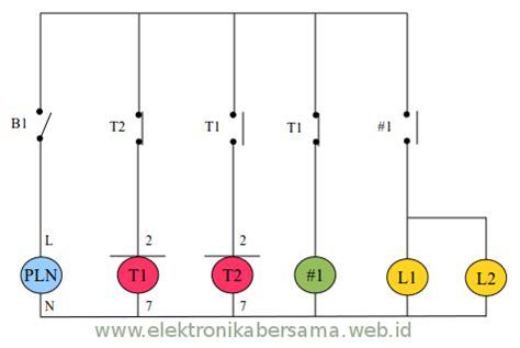wiring diagram otomatis lu menggunakan timer