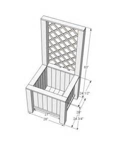 white build a planter box with trellis free and