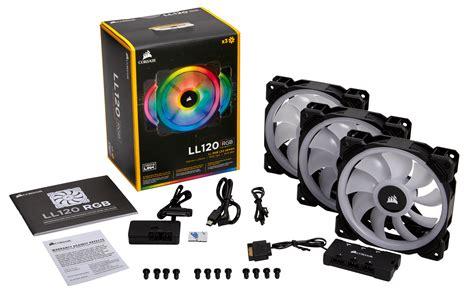corsair ll120 dual light loop 120mm rgb led fans 3 pack