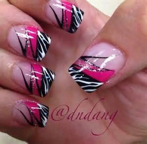 pink zebra nails nails pinterest