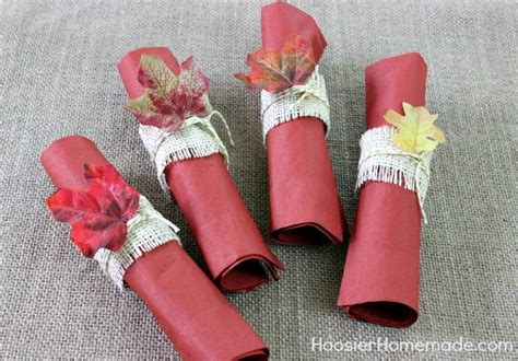 How To Make Paper Napkin Rings - simple diy napkin rings and thanksgiving tablescape