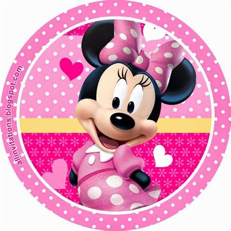imagenes infantiles redondas etiqueta redonda minnie mouse minnie and mickey mouse
