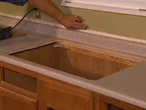 How To Replace Kitchen Countertops Install A Bathroom Sink Faucet And Countertop How To Diy Network Apps Directories