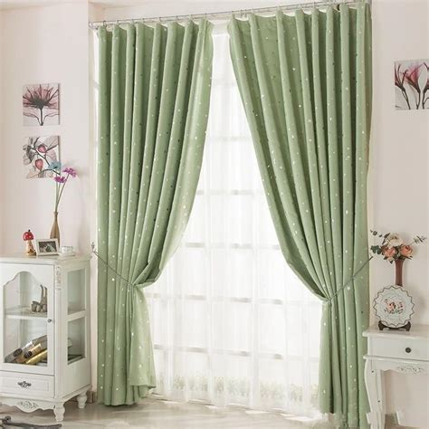 blackout curtains with hooks blackout curtains home star pattern printed polyester flat