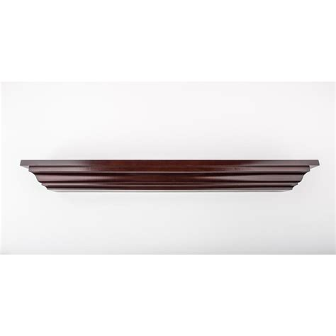 Decorative Crown Moulding Home Depot | 60 in l x 5 in d floating chocolate crown molding decorative ledge shelf 455 13 the home depot
