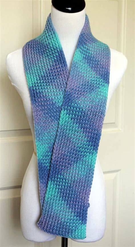 multicolored scarf loom knit