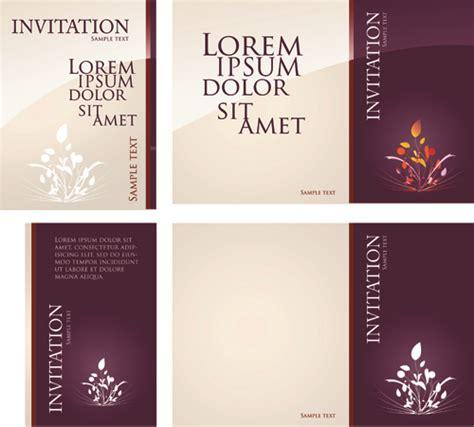 Invitation Card Design Vector Free Download | different invitation cover design vector vector cover