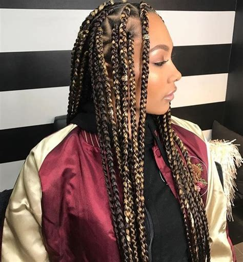large black and blond braids 42 chunky cool jumbo box braids styles in every length