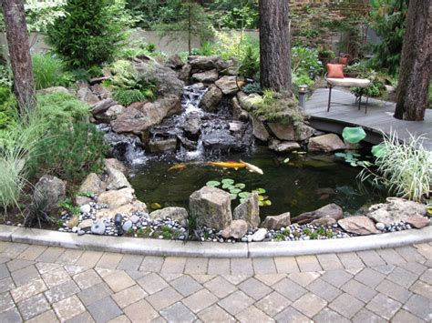 koi pond in backyard home and garden ponds decosee com