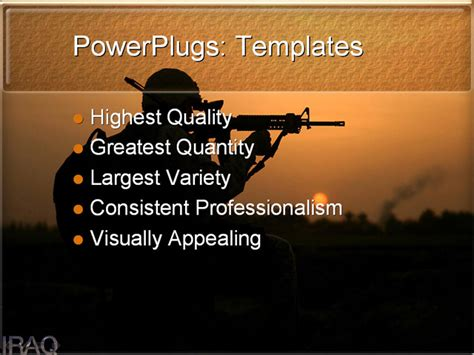 iraq powerpoint template background of iraq war middle
