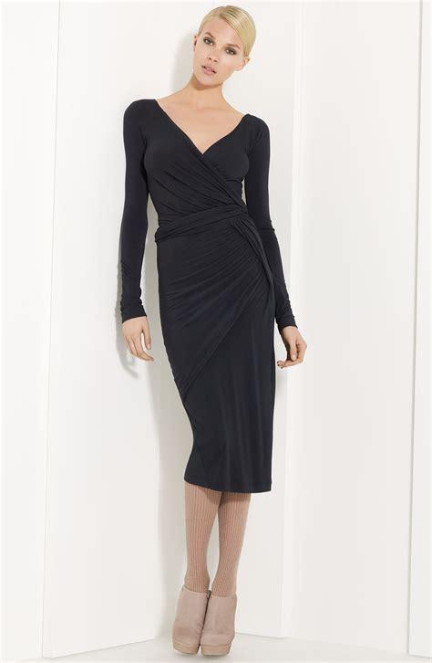 donna karan draped dress donna karan new york collection draped jersey dress in