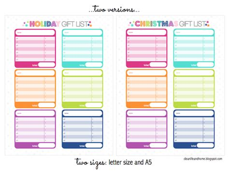 2015 christmas planner free printable download freebie christmas holiday gift planner printable