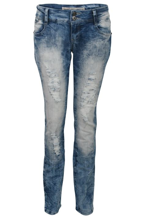 light blue ripped womens womens light blue ripped leg faded denim