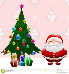 christmas tree and santa claus stock vector image 16623216