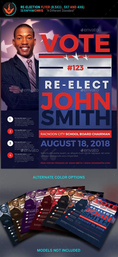 Vote Re Election Flyer Templates By Seraphimchris Graphicriver School Board Caign Flyer Template