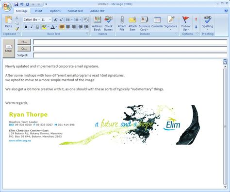layout of email signature email signature design wallskid
