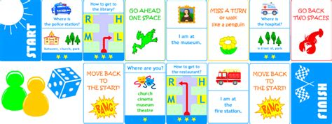 board card template move back two spaces card for learning around the town