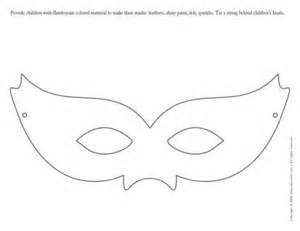 Open Mask  Masked Ball Provide Children With Flamboyant Colored sketch template