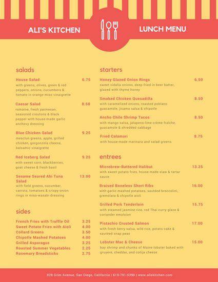canva menu customize 208 lunch menu templates online canva