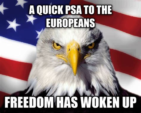 America Meme Eagle - american freedom quotes like success