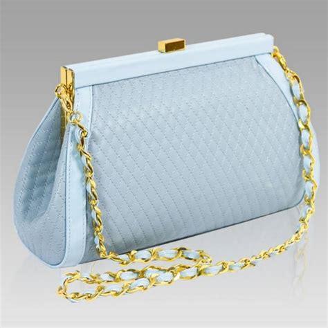 Plisse Wristlet by Valentino Orlandi Designer Aquamarine Plisse Textured