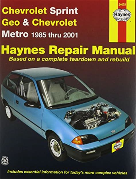 auto repair manual free download 1997 geo metro parental controls 1985 chevrolet sprint specifications and photos