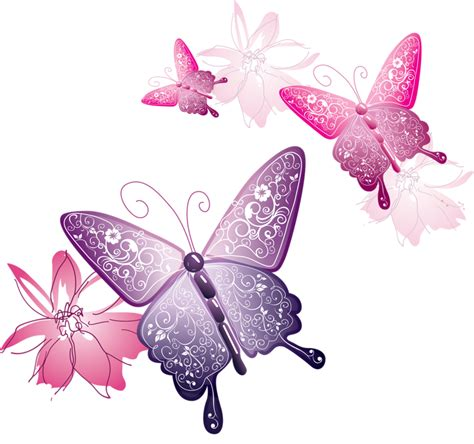 3d Butterfly Flowers Soft pink butterfly png number 6742 daily updated free icons and png images for your