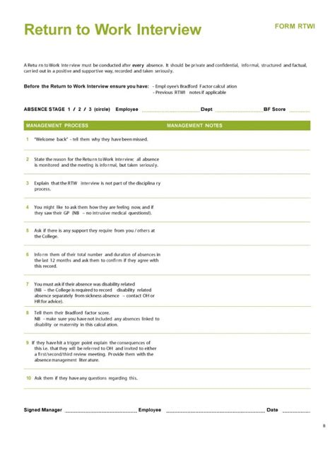 return to work template 44 return to work work release forms printable templates