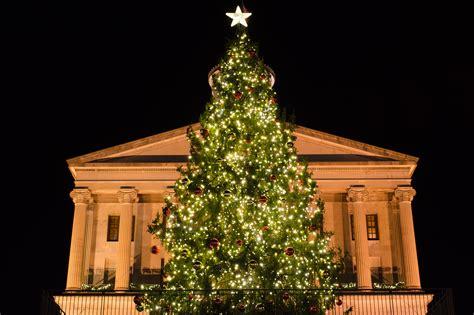 christmas lights in tennessee nashville special event holiday tree lighting nashville