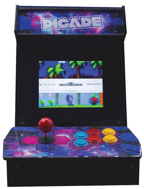 raspberry pi arcade cabinet kit pimoroni pim105 picade desktop arcade cabinet kit for