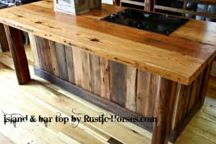 kitchen island with bar top rustic horses rustic furniture barnwood barn wood