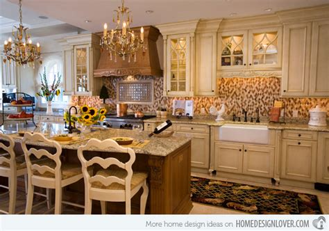 Luxury Kitchen Islands by 15 Fabulous French Country Kitchen Designs Home Design Lover