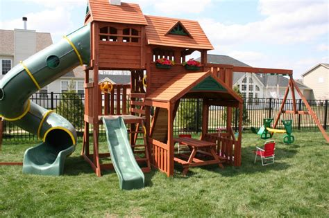 kids outdoor swing sets kids playsets for backyard big backyard lexington wood